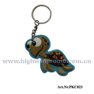 Cute Turtle Shaped Soft pvc Keychain
