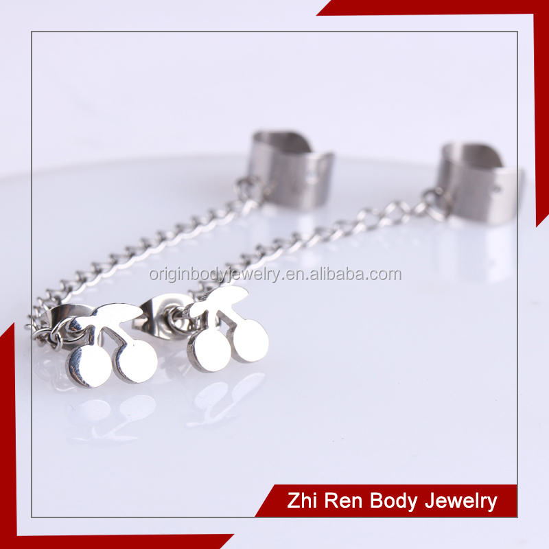 Mirror Polishing Stainless steel cuff chain jewellery earrings