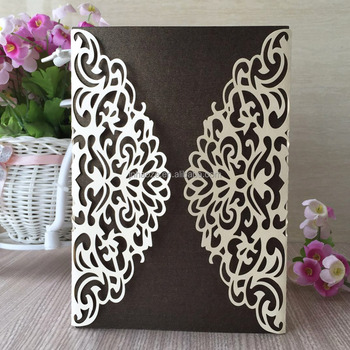 Laser Cut Flower Design 18th Birthday Invitation Card Wedding Qj 57