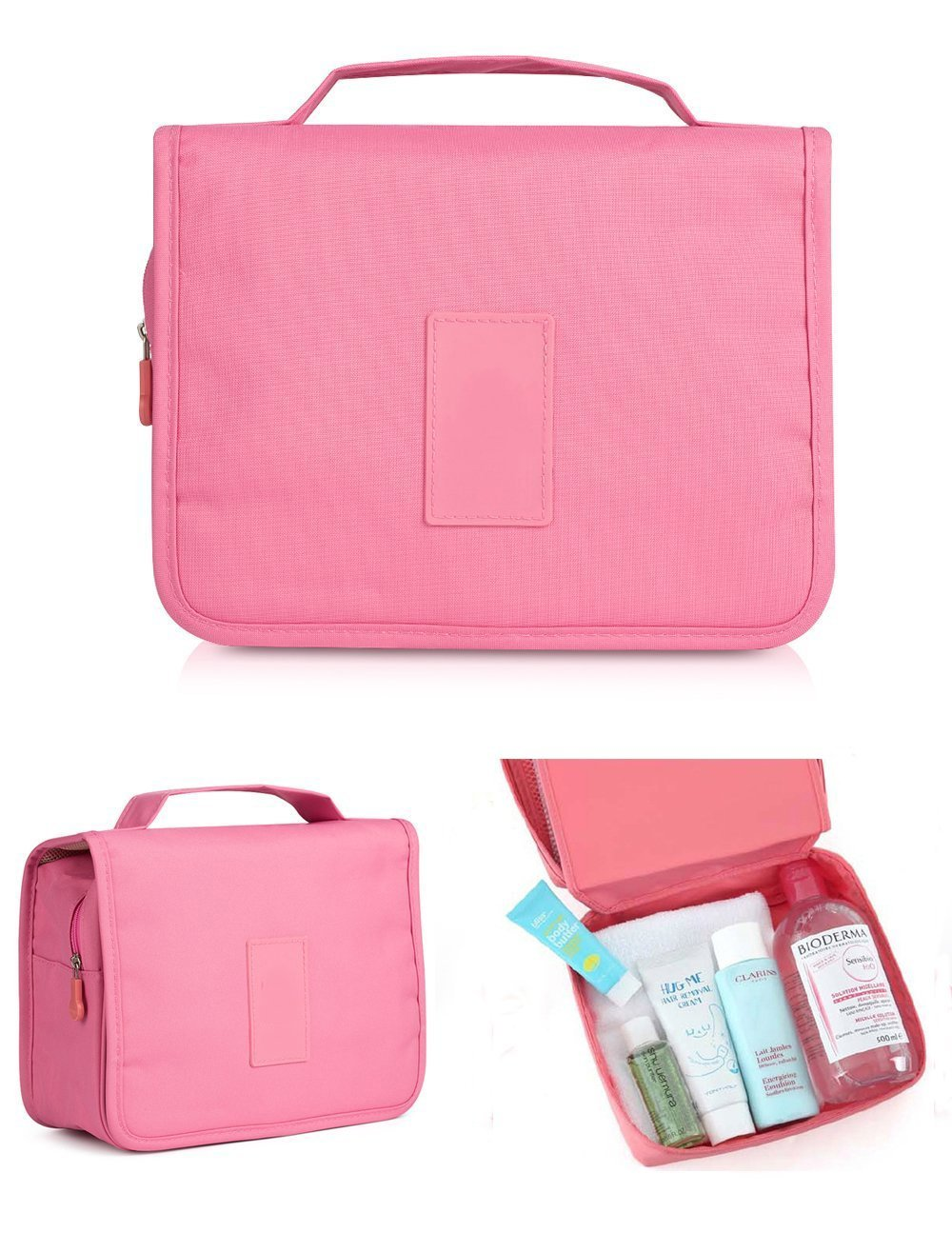 CINEEN Travel Handbag Multifunctional Cosmetics Wash Waterproof Bag Pink