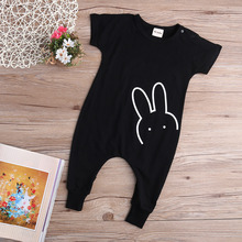 Summer 2016 Newborn Kids Baby Boy Girl Cotton Rabbit Romper Jumpsuit