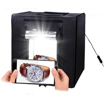 photo studio light box tent kit led light portable 16 x 16 cube