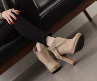 Women Lace Upper Thick High Heel Sandal Ladies Fancy Pump Shoes ...