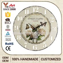 Top Quality Price Cutting French Country Tuscan Style Modern Art Painting Clear Acrylic Wall Clock