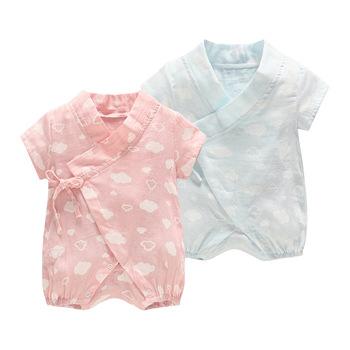 ca834f16f3c0 Summer Newborn Baby Clothes Romper Unisex Baby Pajamas Thin Clothing