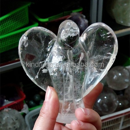 customized small crystal angels for wedding gifts