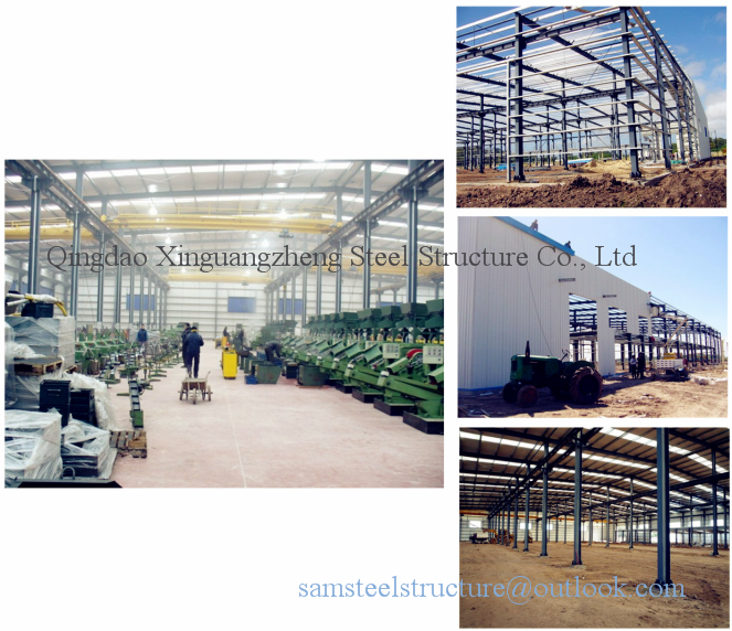 Portal energy saving prefabricated steel warehouse