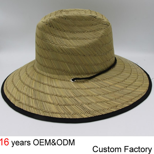2018 Custom Women Safari Hat Wide Brim Straw Lifeguard Hat - Buy ... 9e5cc985048f