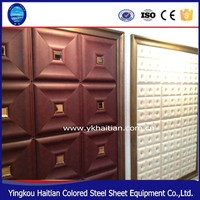 Lightweight Faux decorative 3d leather supplies wall panel ceiling for store cafe pub shop house