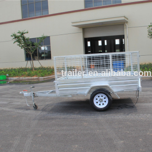 hot sale !!!!ATV 6x4 hot dipped galvanized cage trailer