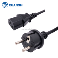 VDE standard pvc 1.5mm2 electrical power cable 2 pin plug european standard extension cord desktop computer power cord