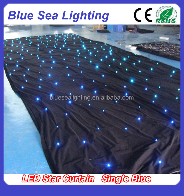 LED star curtain light for stage dj backdrop wedding decoration