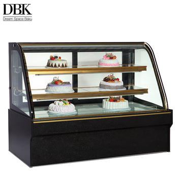 2018 hot sale top counter cake fridge cake cooler with marble base