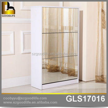 Wooden Mirror Luxury Shoe Cabinet USA Free Shipping