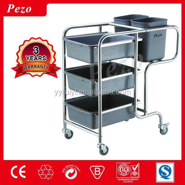 kitchen collection cart /collecting dish trolley cart/ hotel collecting cart