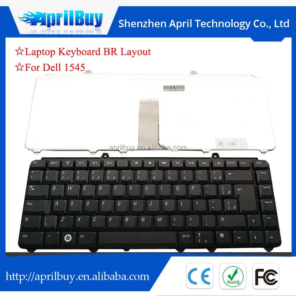 replacement laptop keyboard for dell inspiron 1545 1540 brazil layout