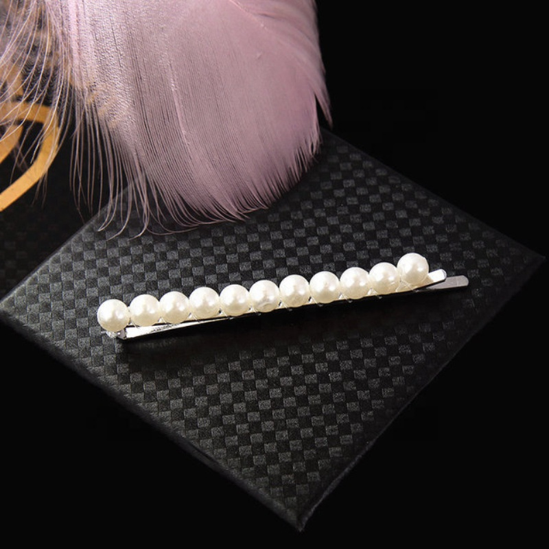 Apparel Accessories Girl's Hair Accessories Fashion Hair Claws Imitation Pearl Lady Headwear Accessories For Women Hairpins Plastic Elastic Barrette Hot As Effectively As A Fairy Does