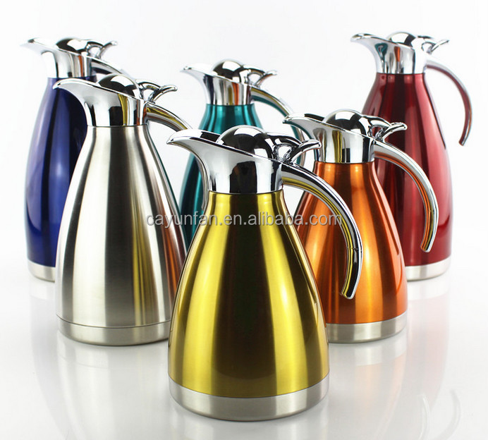 Color Plating Stainless Steel Thermos Flask Branded/hotel Thermos Hot Water  Flask/thermos Stainless Coffee Pots - Buy Stainless Steel Thermos Flask