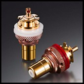 24K Gold Plated Copper Gold Plated Carbon Fiber XLR Connector Plug Audio 3pin