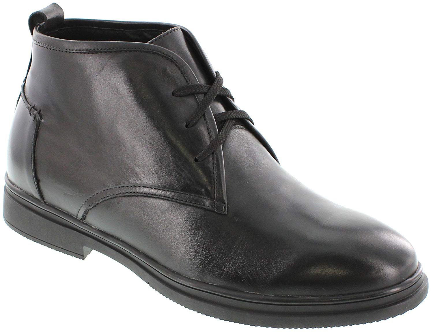 Toto - G8601-3 Inches Taller - Height Increasing Elevator Shoes-Black Boots