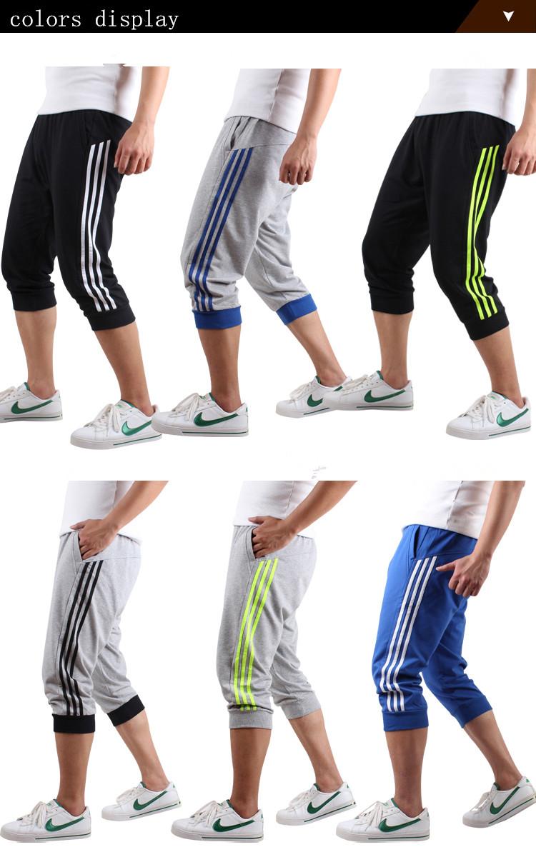 Pantalones De Tres Cuartos A La Moda Para Hombre Con Rayas Verticales Por Los Lados Buy Pantalones De Tres Cuartos Para Hombre Pantalon Con Rayas Verticales Pantalones De Moda Para Hombre Product On Alibaba Com