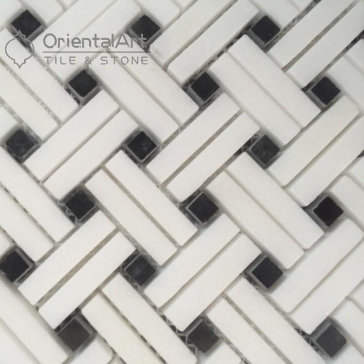 Discount Basket Weave Marble Mosaic Floor Tile Buy