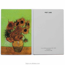 3d postcard hot picture lenticular print PET/PP hologram vase popular craft customized