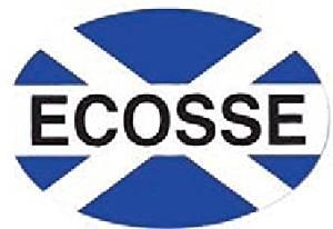 stickyrico1 Scottish Gifts - Scottish Car Sticker - Ecosse - Scotland Flag - Saltire - UK Gifts