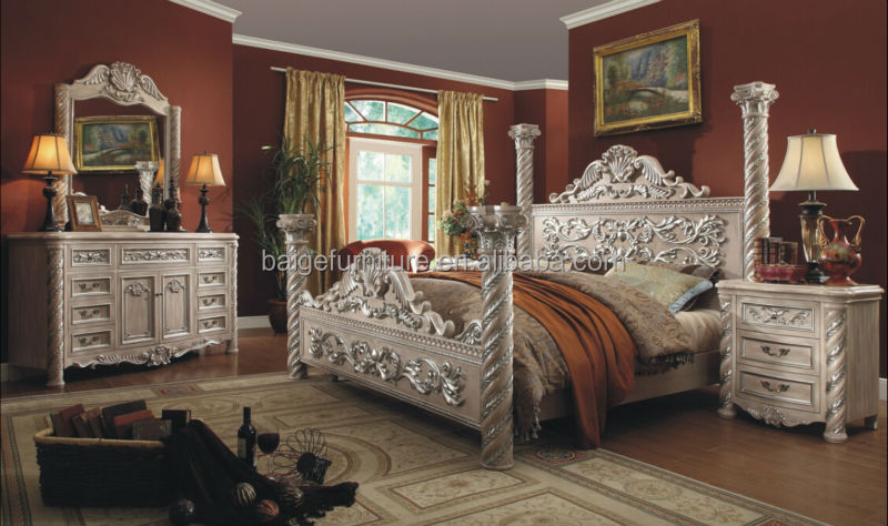 High Quality Indonesia Furniture Antique Classic Bedroom Furniture Images