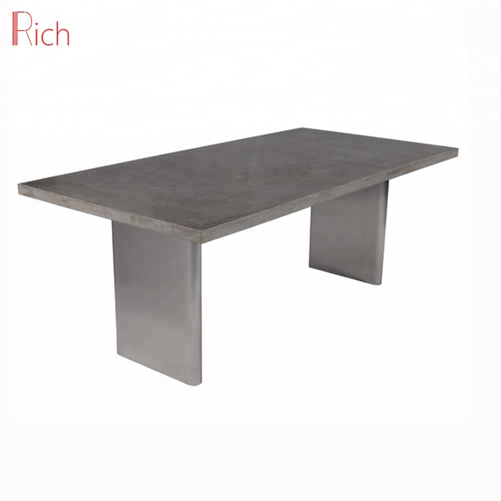 Outdoor Concrete Furniture Dining Table Square Cement Top Garden Table View Cemnet Table Rich Product Details From Foshan Rich Furniture Co Ltd