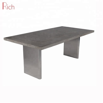 Outdoor Concrete Furniture Dining Table Square Cement Top Garden Cemnet Modern Product On