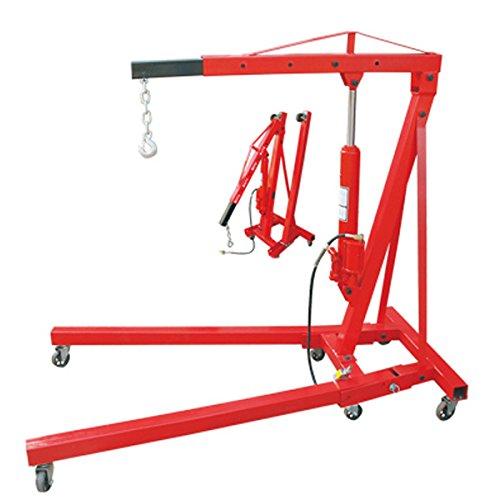 Wimmer 2 Ton Air Hydraulic Shop Crane Foldable Engine Motor Cherry Picker Hoist