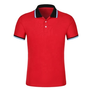 200G 100% Cotton Pique Polo Shirt With Your Custom Logo Short Sleeve Quality Golf Shirt Custom Design Uniform Guangzhou Factory
