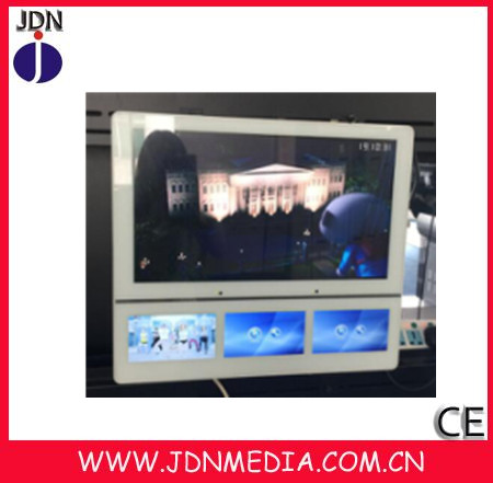 22'inch+7inch super thin led advertising player with Original Samsung/LG panel
