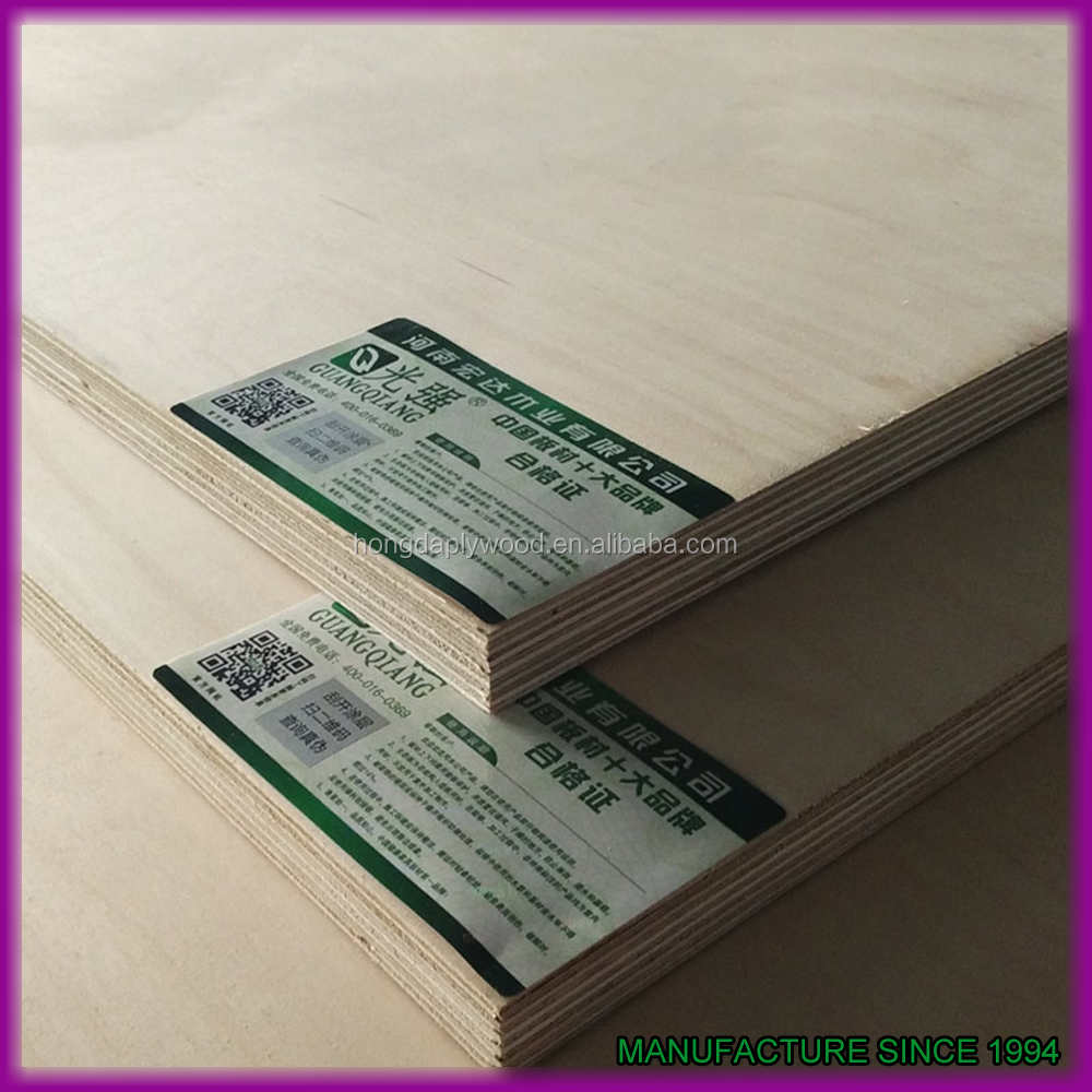 4x8 18mm birch faced furniture board first class plywood