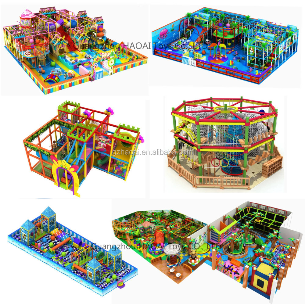 A-15333 Mini Type Candy Series Mini Children Indoor Playground for Girls Soft Mcdonalds Playground Equipment for Home