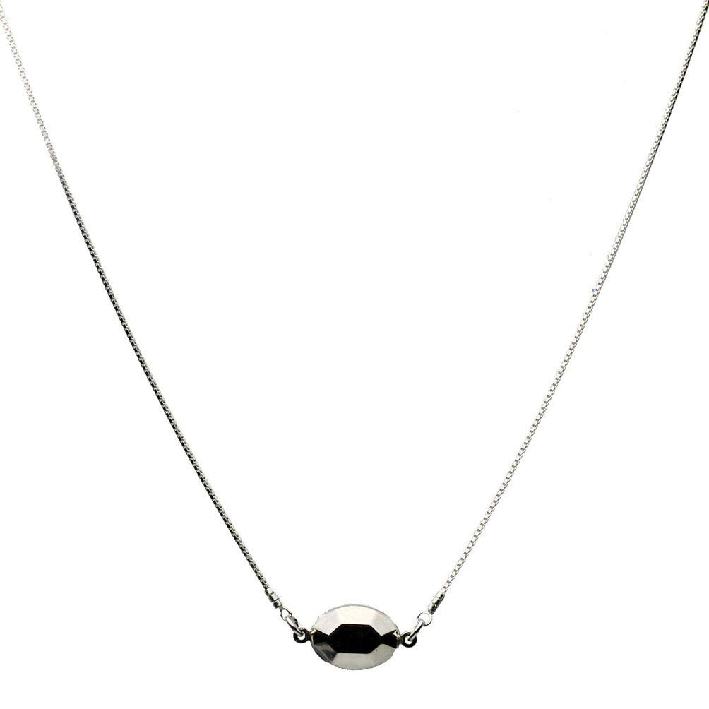 CloseoutWarehouse Rhodium Plated Sterling Silver DC Bead 100 Chain 1mm