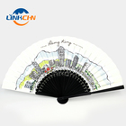 Ribs Fan Fan Black Fan High Quality Black Bamboo Ribs Hand Fan For Decoration