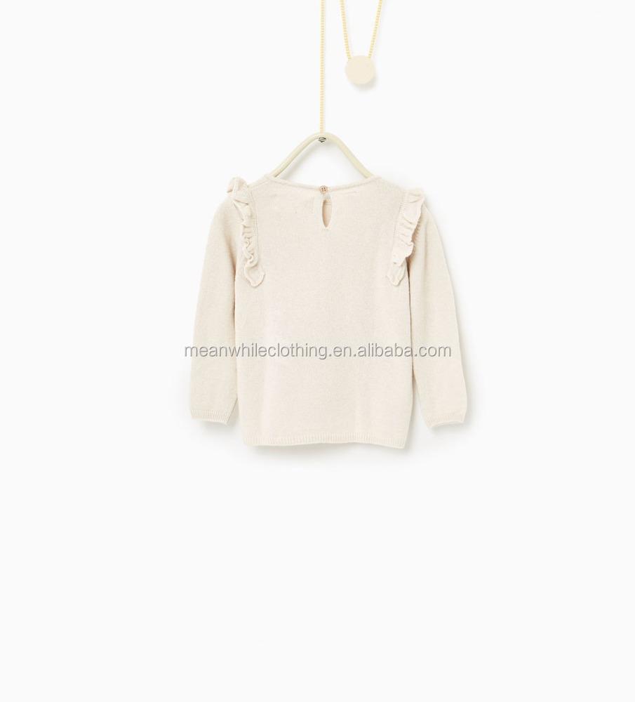 China barato blanco punto Kid suéter fácil ganchillo suéter patrón ...