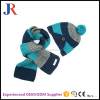 china factory supplier new design fashion winter child funny knit hats and scarf