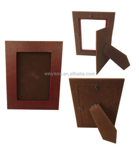 Durable 7 inch Digital Photo Frame Leather Brown Picture Display with Stand