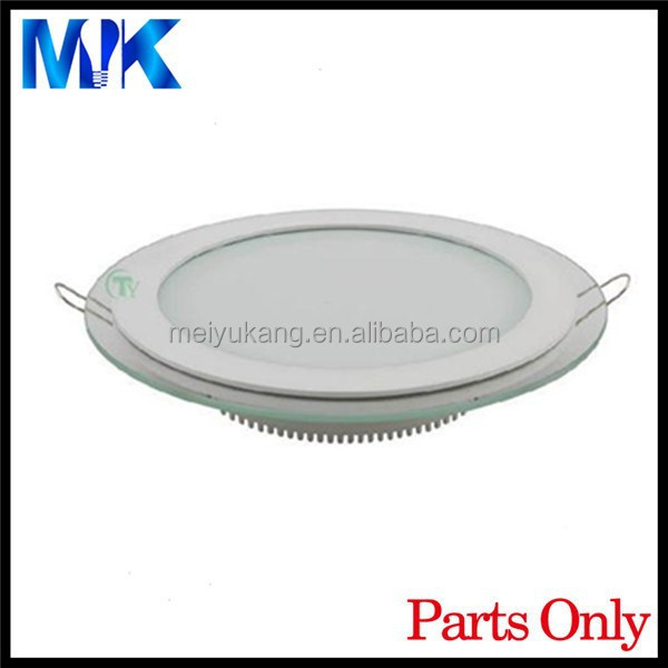 update price 12w SMD 5730 PCB round led panel light heatsink, glass led downlight accessories