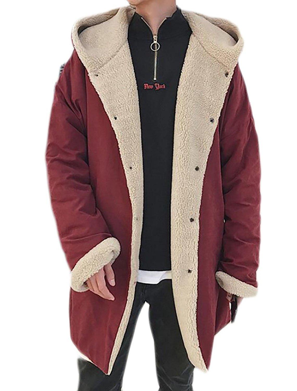ONTBYB Men Corduroy Fleece Lined Thicken Outwear Warm Jacket Coat