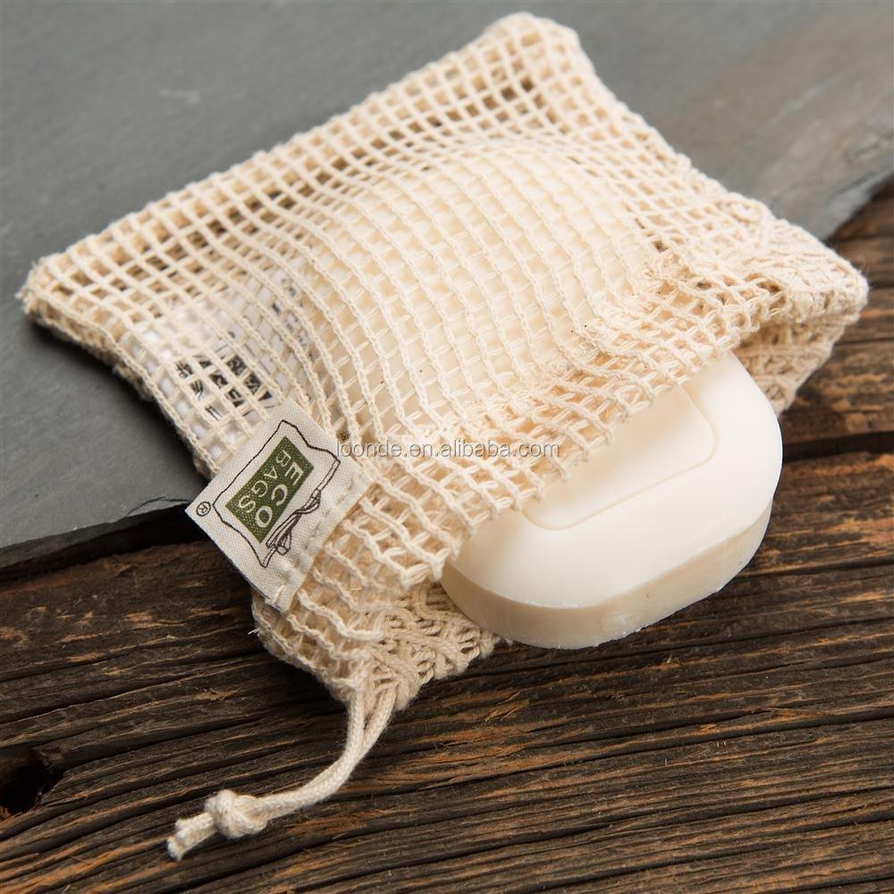 Natural Cotton Soap Bag Drawstring Net Product On Alibaba