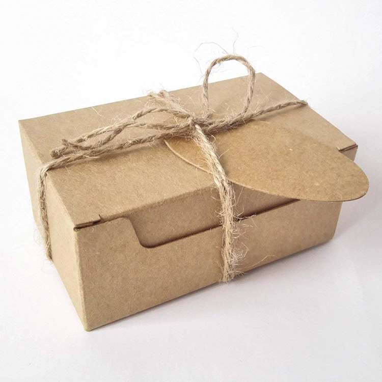 New design eco friendly custom 판지 rectangle 크래프트 종이 gift box 와 brown hl 태그와