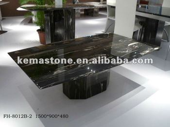 Silver Dragon Black Marble Coffee Tables