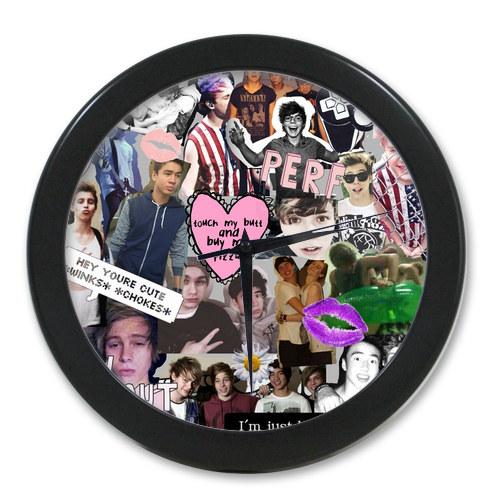 Original <font><b>Home</b></font> <font><b>Decoration</b></font> Customized One Direction <font><b>Elegant</b></font> Wall Clock Modern Design Watch Wall Free Shipping #mwer07