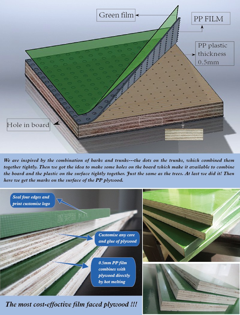 Pp Faced Plywood ~ Pp plastic film faced plywood waterproof marine