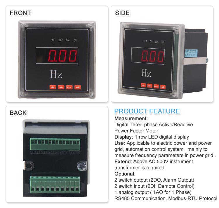 Panel Mount Frequency Counter : Digital remote control frequency meter buy analog