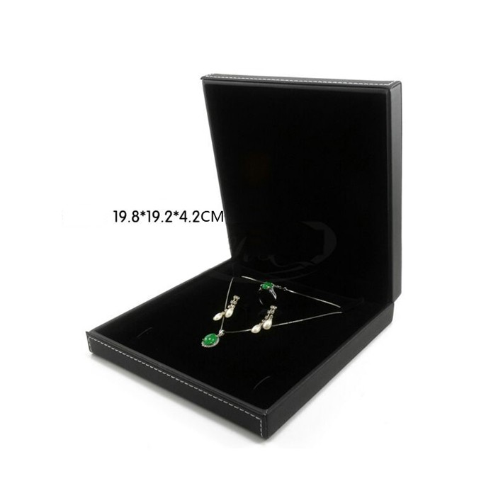 Mysterious Black Necklace Display Box Jewelry Box Factory Direct Sale